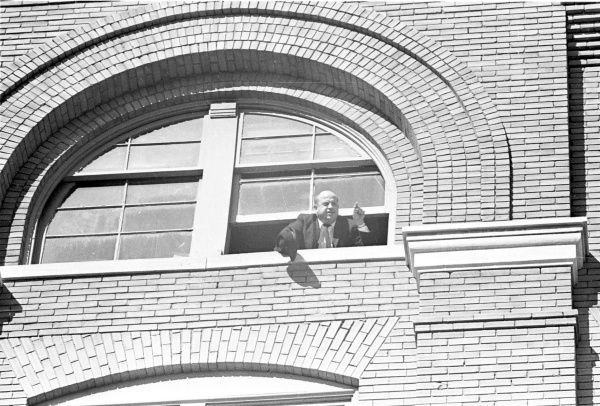 """Sgt. Gerald """"Jerry"""" Hill, on the sixth floor of the Texas School Book Depository, shouted the news that the perch from where JFK was assassinated on Nov. 22, 1963, had been found."""