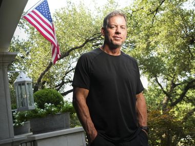 Hall of Fame quarterback Troy Aikman photographed at his home Thursday, Sept. 2, 2021, in Dallas.