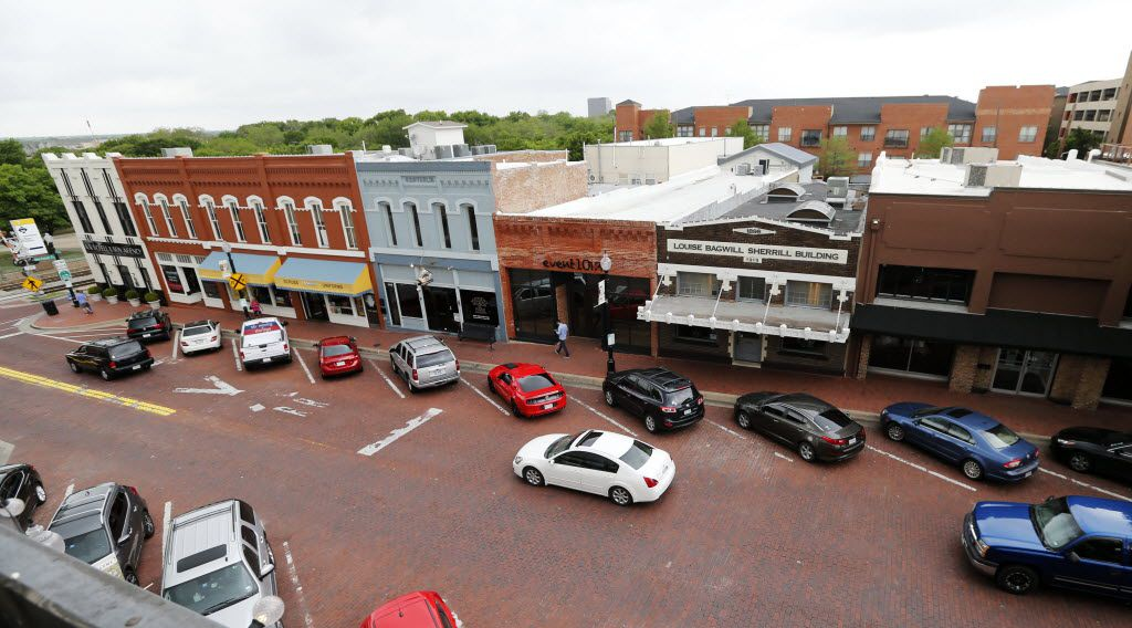 View of 15th Street in downtown Plano on Monday, April 10, 2016. (Vernon Bryant/The Dallas Morning News)