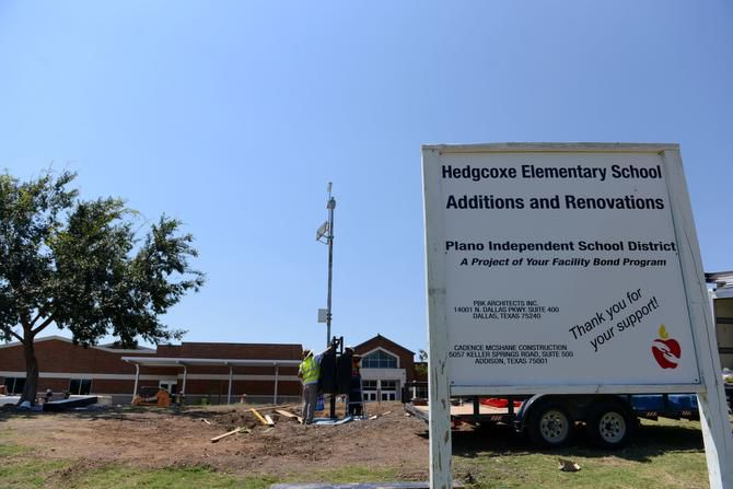 Construction is underway at Hedgcoxe Elementary School in Plano.