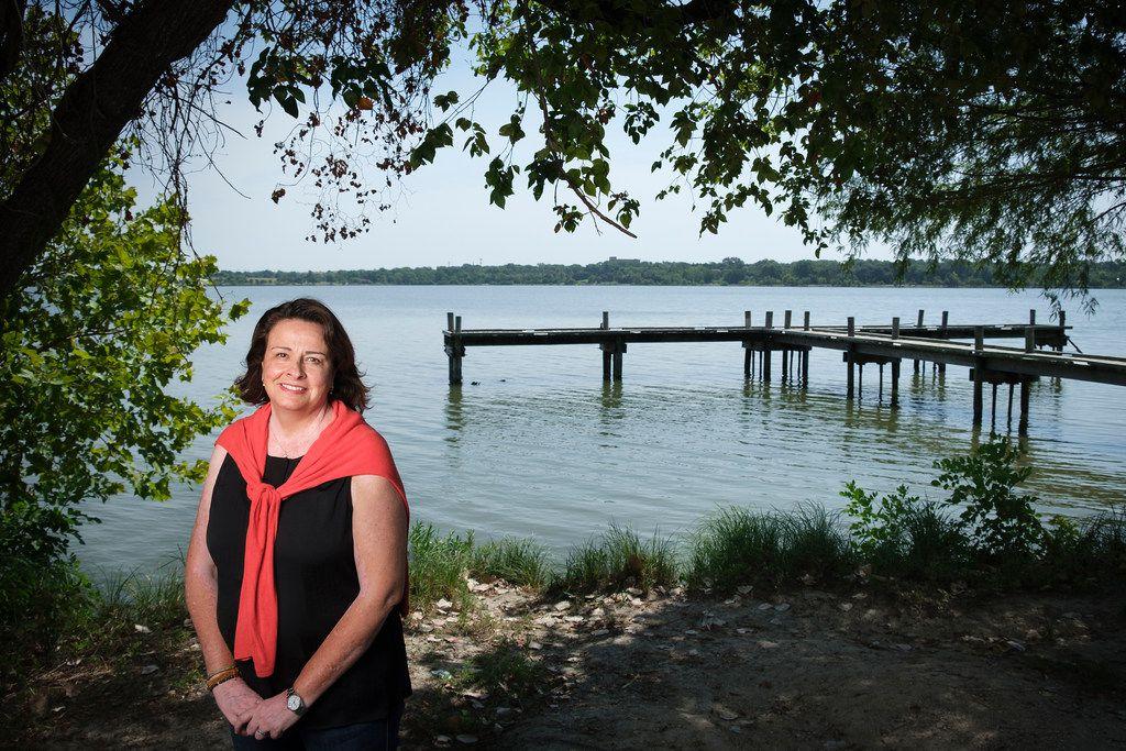 Dallas City Council member Paula Blackmon photographed at White Rock Lake on Friday, Aug. 9, 2019, in Dallas. (Smiley N. Pool/The Dallas Morning News)