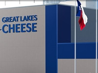 A rendering of Great Lakes Cheese Co.'s new distribution center in Abilene is displayed on the company's website.