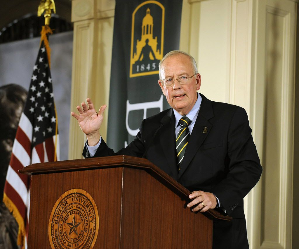 Ken Starr is introduced to faculty  Feb. 16, 2010, in Waco, Texas during his announcement as the school's new president. (Rod Aydelotte/Waco Tribune Herald)