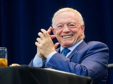 Dallas Cowboys owner, president and general manager Jerry Jones laughs during the 2019 Dallas Cowboys Kickoff Luncheon on Wednesday, August 28, 2019 at AT&T Stadium in Arlington. The luncheon benefitted the Dallas Cowboys Charity House at Happy Hill Farms.