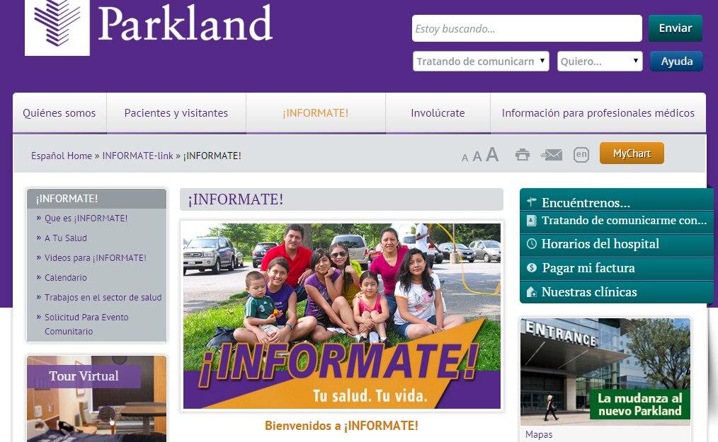 El Hospital Parkland lanza una sección en español más organizada. Más de la mitad de sus pacientes son hispanos.(AL DÍA)