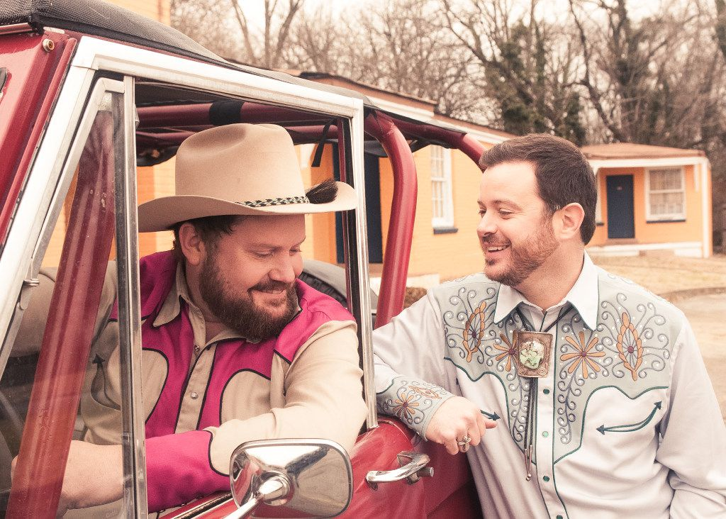 Randy Rogers, left, and Wade Bowen are two Texas country singers who also happen to be best friends.
