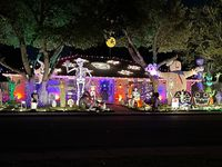 """Randy and Stacy Motes spend about a week decorating their DeSoto home for the Halloween season. """"We try to have a mix of scary and fun,"""" said Stacy, who teaches elementary special education."""