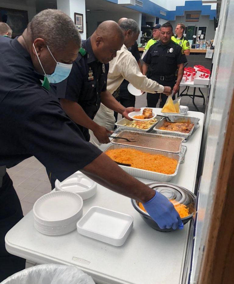 Dallas police officers of the Northeast Division and other first responders have received meals thanks to donations solicited by former students of Moss Haven Elementary School in Richardson ISD.