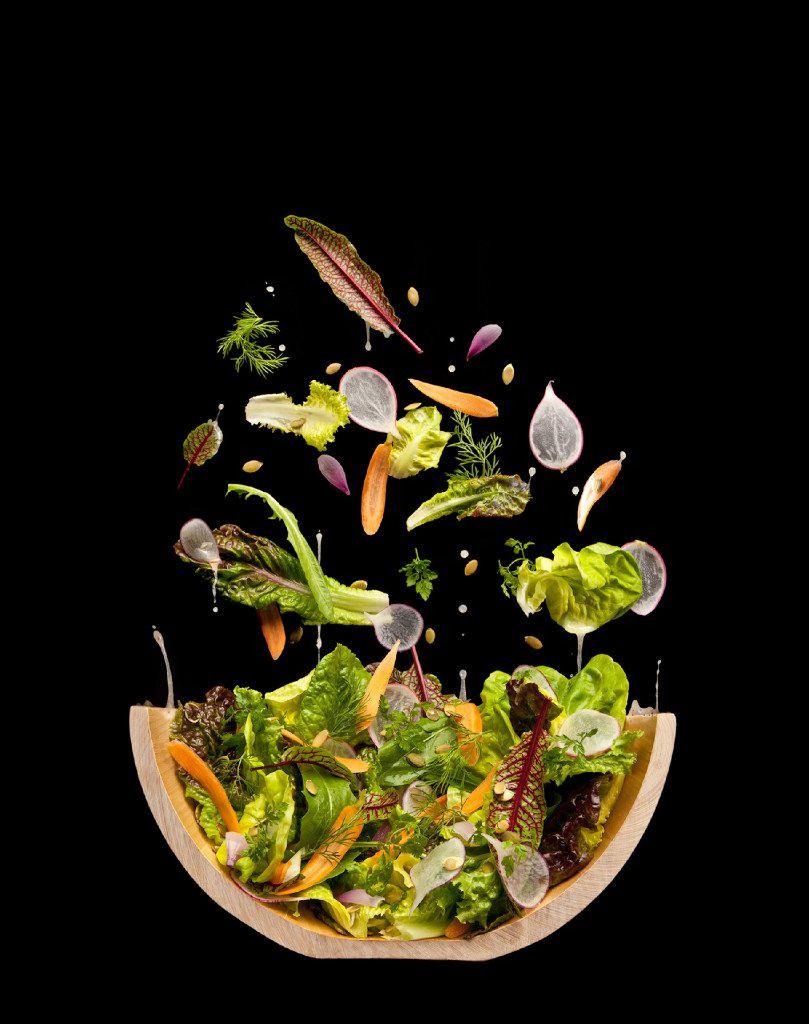 Salad cutaway at Modernist Cuisine Gallery in Las Vegas