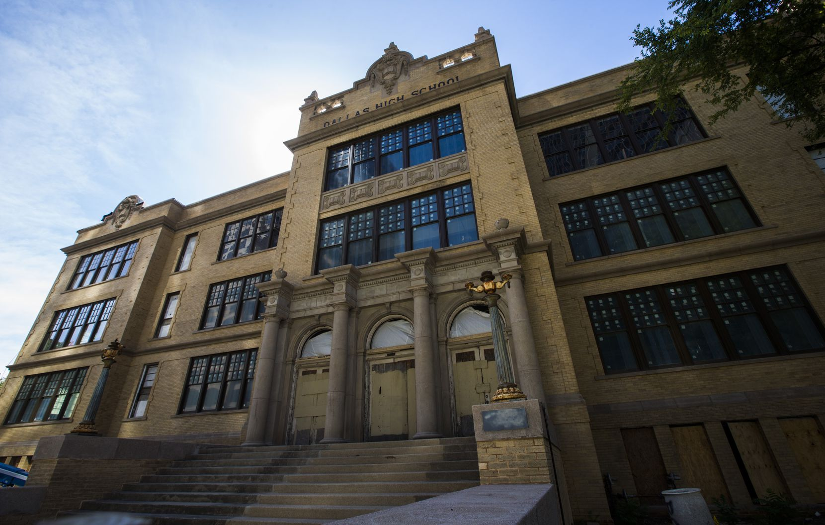 Developer Matthews Southwest is spending $50 million to convert the old Dallas High School building, built in 1907, into retail and office space. The developer has said one of its tenants needs to move into the renovated space in October.