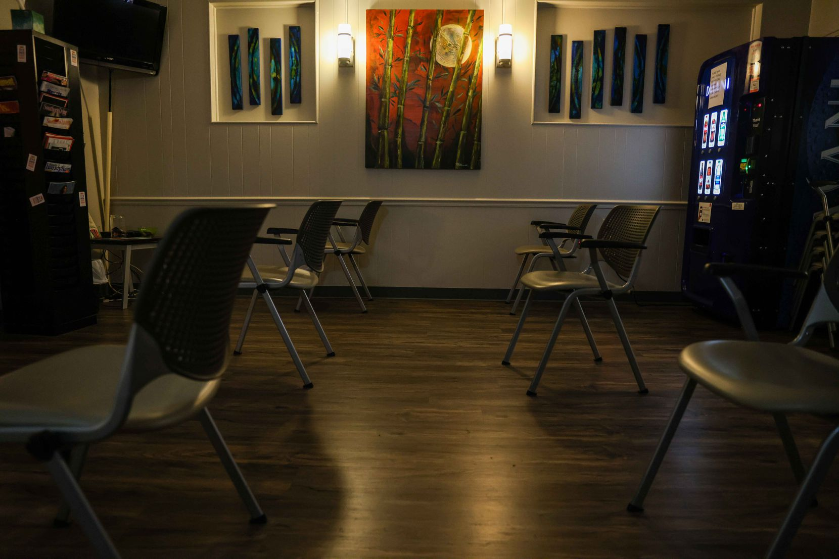 Waiting area before procedures and counseling appointments at Hope Medical Group for Women in Shreveport, La., on Tuesday, September 28, 2021. The clinic offers its services to pregnant women seeking abortions, including women from Texas.