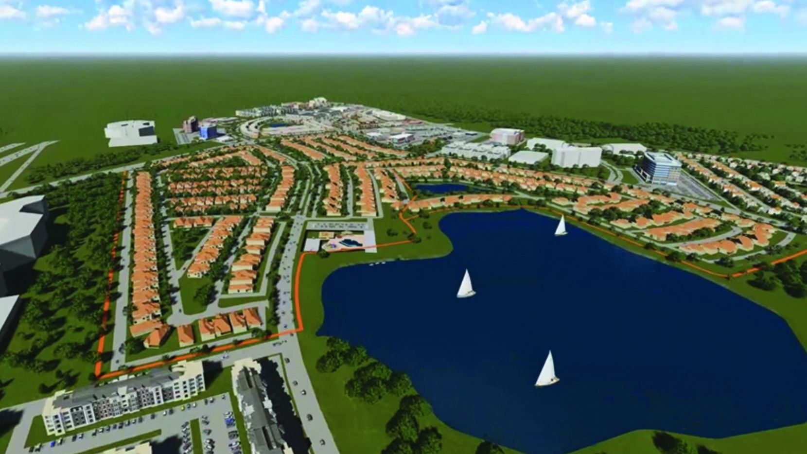 Th 370-acre Mercer Crossing mixed-use development is north of LBJ Freeway in Farmers Branch. (Centurion American Development)