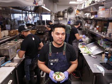 Donny Sirisavath, center, is owner of Khao Noodle Shop