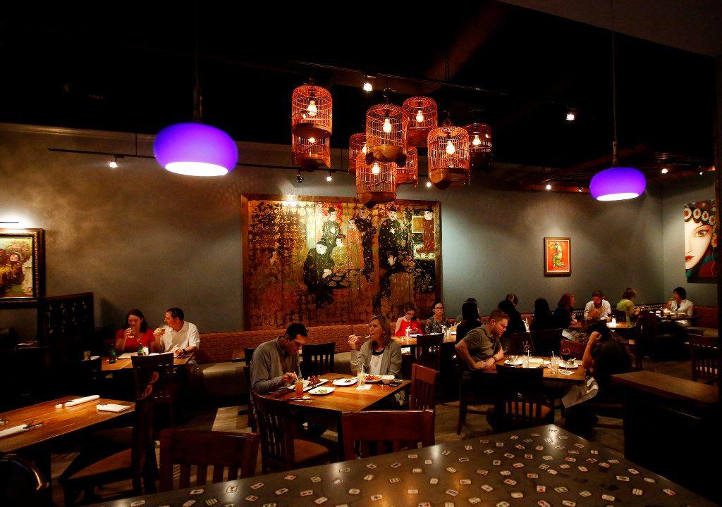Mah-Jong's stylish dining room