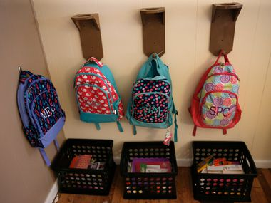 """Amid a statewide bed shortage created by a raft of troubles, Texas' big foster care privatization effort is facing rocky times in San Antonio and Fort Worth. The model, which cedes virtual control of a geographic region to a non-state entity, is slated to come to Dallas late next year. This 2016 file photo shows backpacks at a Mineral Wells foster home that was part of the new """"community-based care"""" program."""