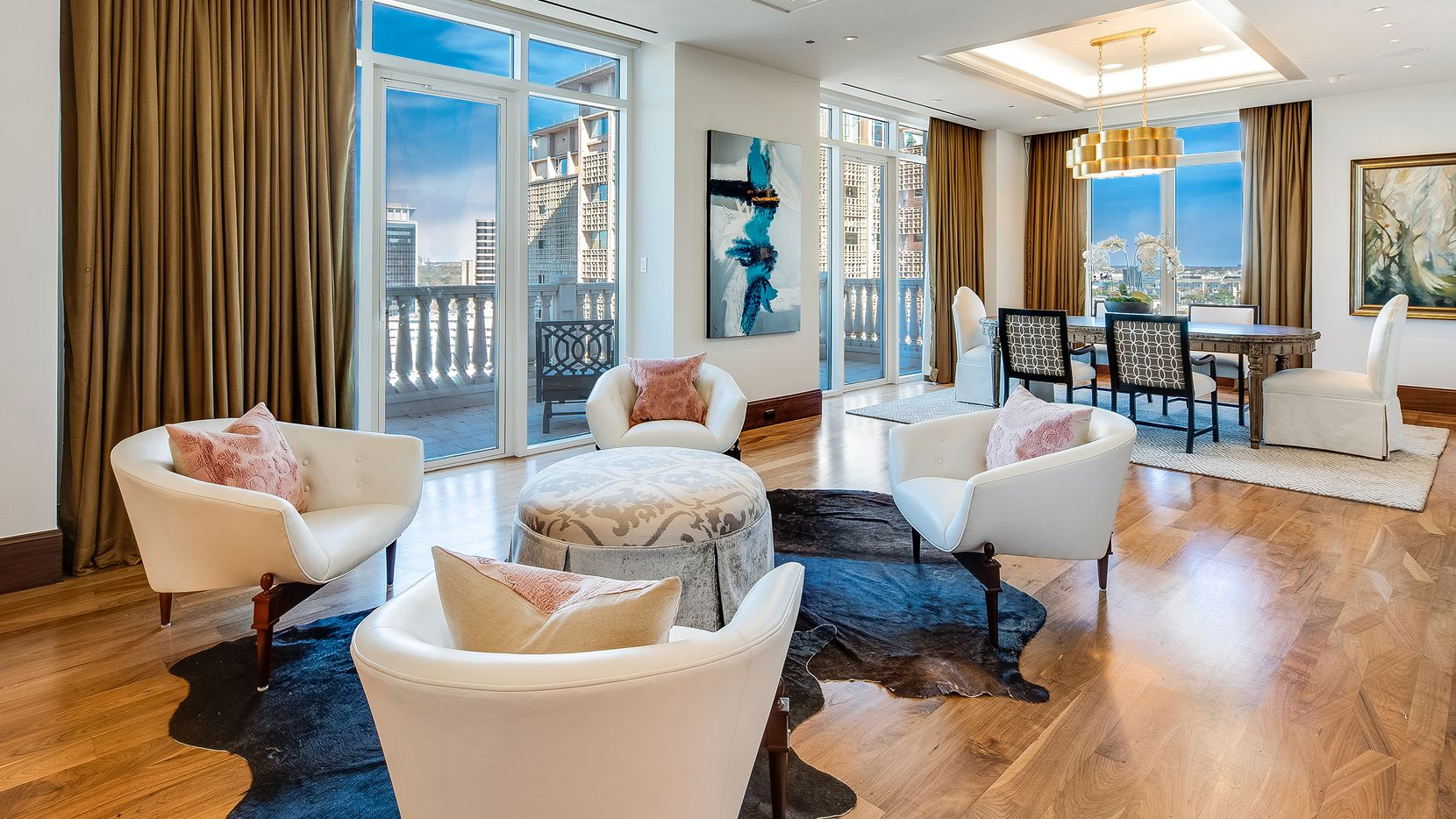 The two-floor penthouse on the 18th floor at the Vendôme is a custom-designed, contemporary-style home with 6,600 square feet of living space.
