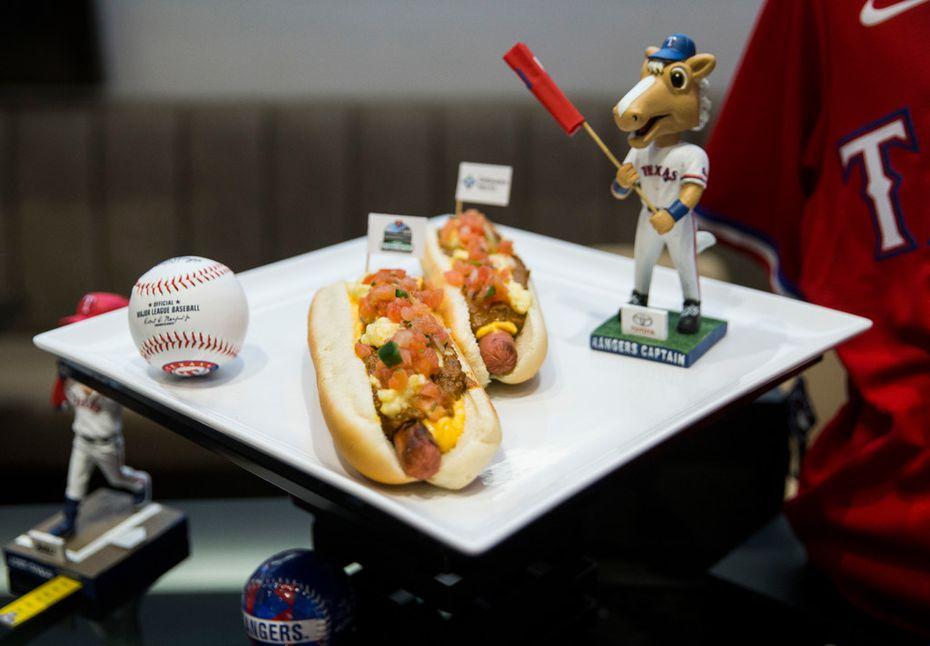 El Grit Hot Dog en el Globe Life Field.