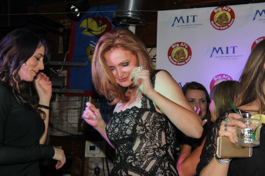 Kellie Rasberry danced with her friends at her birthday bash.