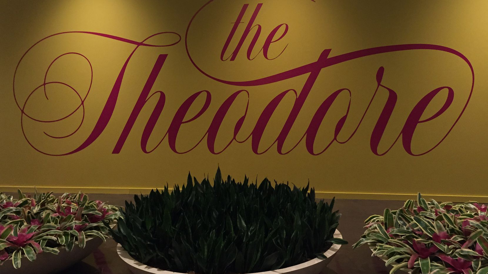 I've been asking about the Theodore since early May, when this logo was painted on the side of the not-yet-open restaurant inside NorthPark Center.