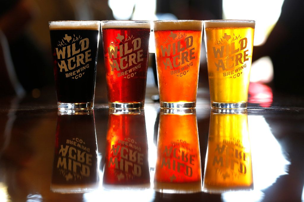 Beers (left to right): Soul Pleasure, Billy Jenkins, Tarantula Hawk and Moonlight Shine made by Wild Acre Brewing Co.