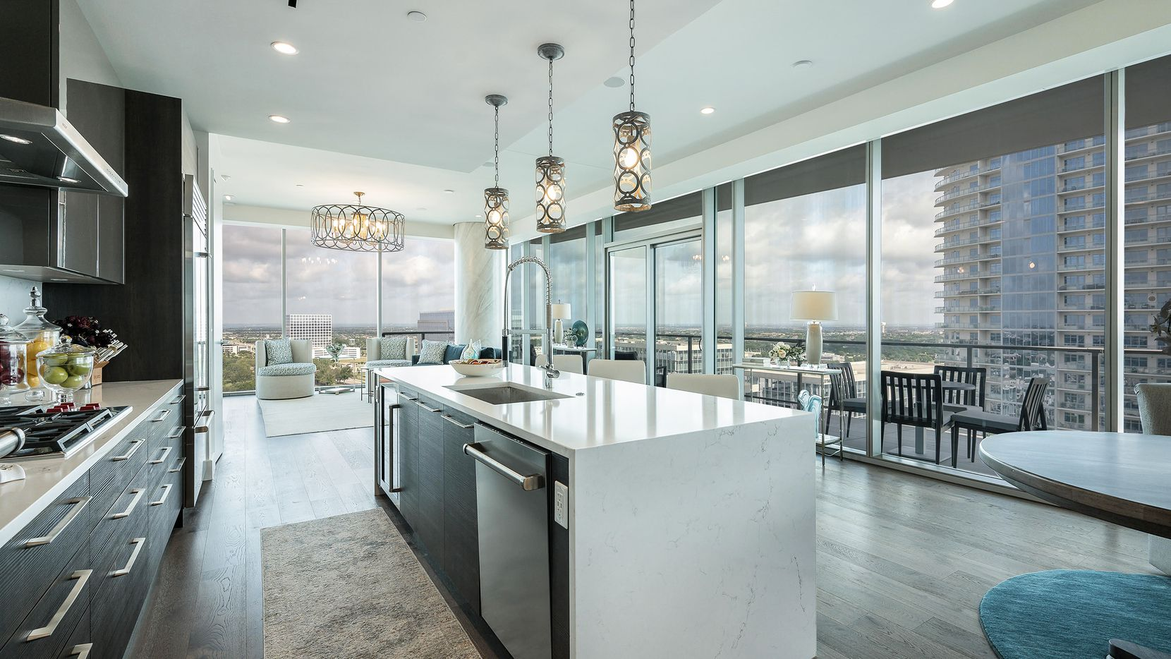 This 15th-floor unit at Windrose Tower at Legacy West is listed for $2.1 million.
