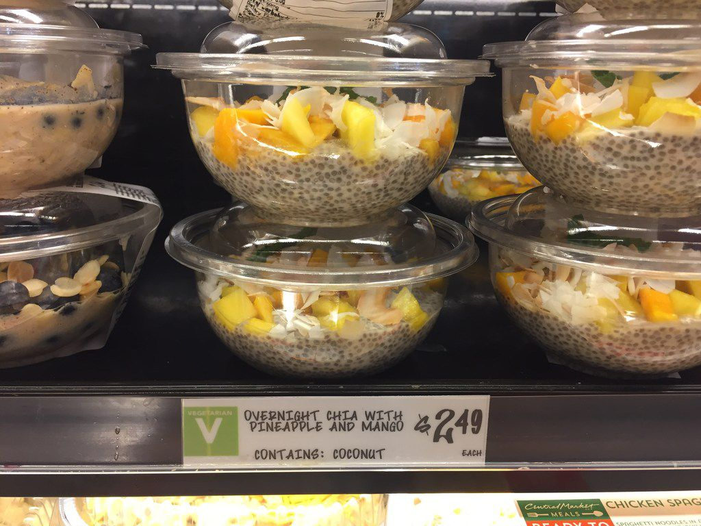 H-E-B's Central Market has expanded its single-serving, grab-and-go meal replacement items to include cold oat and chia bowls.