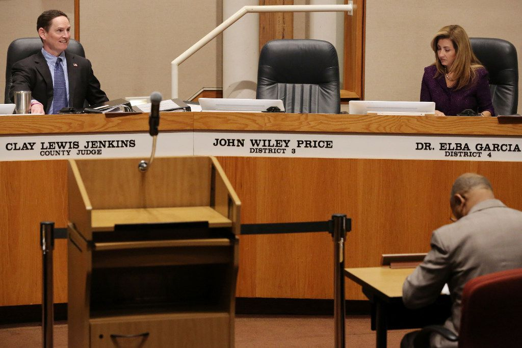 Price's seat at the Dallas County Commissioners Court was vacant during his trial. (Andy Jacobsohn/Staff Photographer)