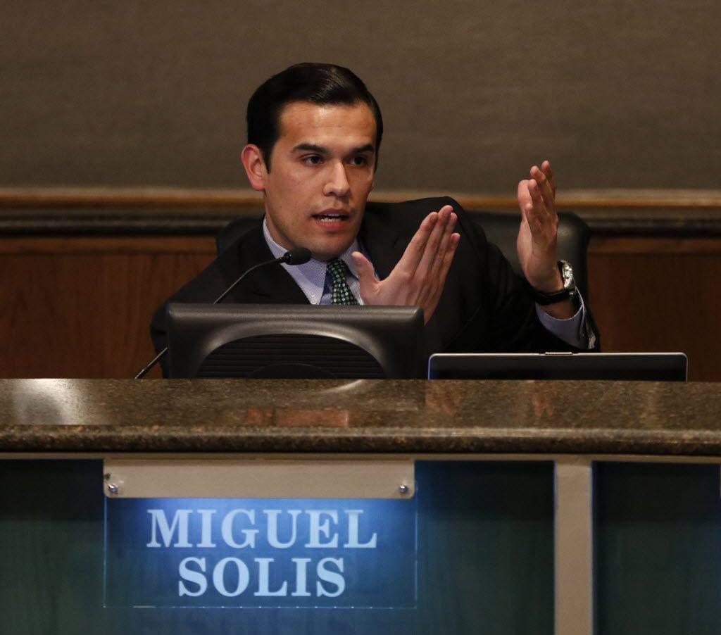 Dallas school trustee Miguel Solis wants the district to adopt a more progressive approach to school discipline.