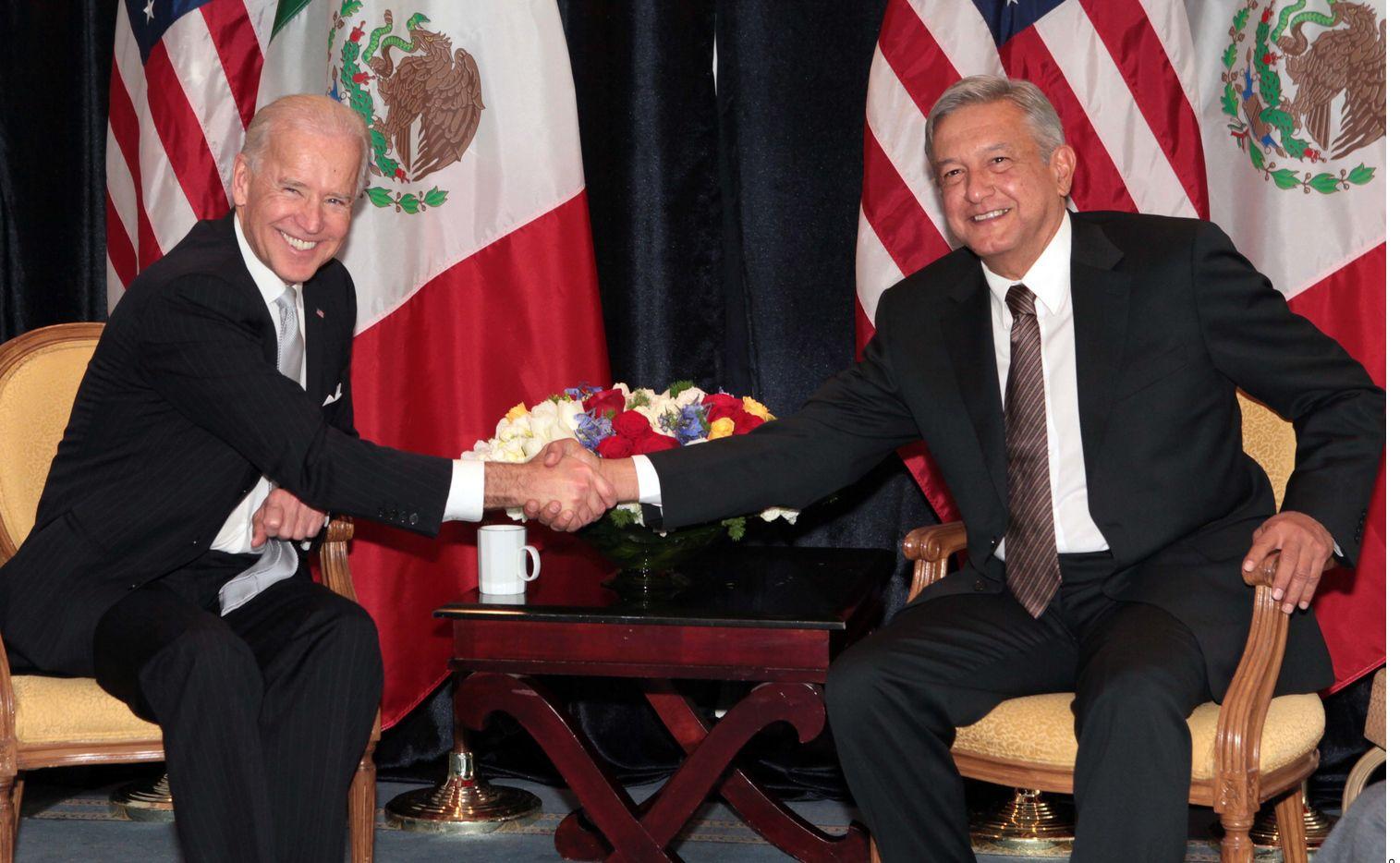 Foto de archivo del encuentro entre Joe Biden y Andrés Manuel López Obrador, durante la presidencia de Barack Obama.