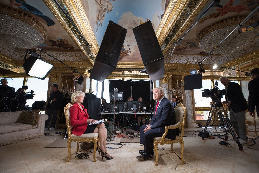 60 MINUTES Correspondent  Lesley Stahl interviews President-elect Donald J. Trump at his home, Friday.