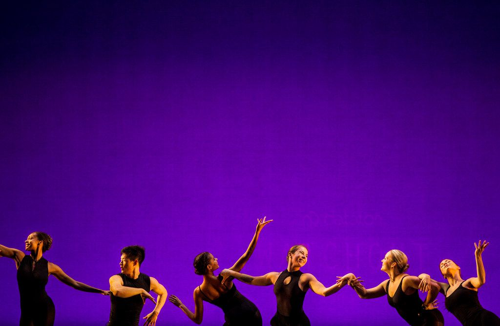 Southern Methodist University students rehearse choreographer Bridget L. Moore's Simply, Eartha, a tribute to the late singer-actress Eartha Kitt.