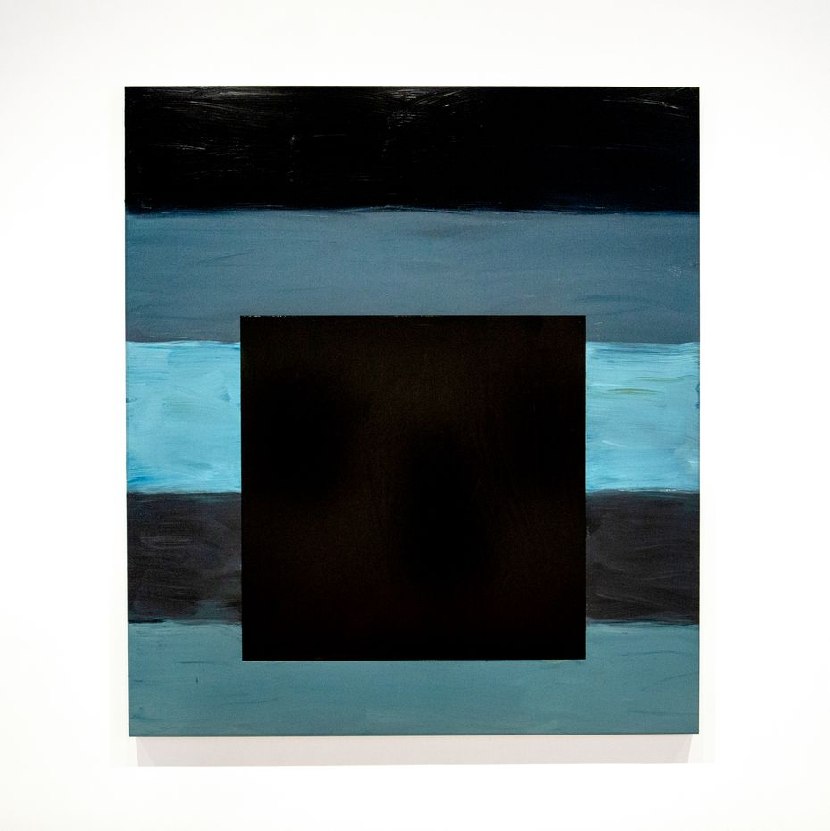 """Sean Scully's 2021 painting """"Untitled (Black Square)"""" evokes the despair, uncertainty and loss of the COVID-19 pandemic."""
