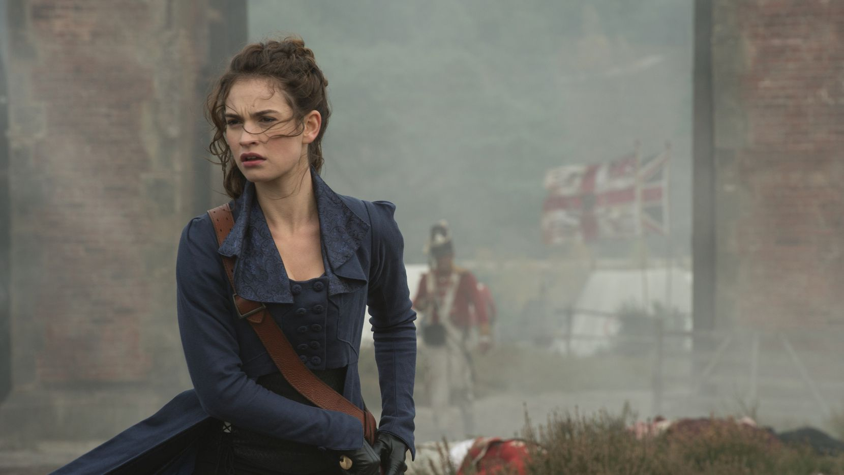 Lily James in Screen Gems' PRIDE AND PREJUDICE AND ZOMBIES.