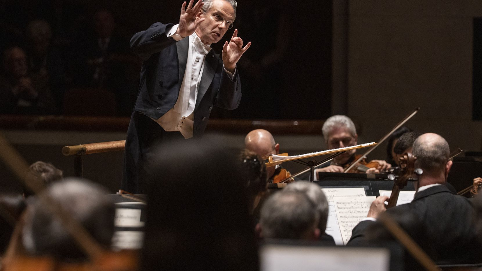 Music director-designate Fabio Luisi leads the Dallas Symphony in concert at the Meyerson Symphony Center in Dallas on Thursday, Jan. 9, 2020.