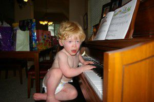 Ben Schneider was already taking an interest in piano at age 2. A year earlier, a doctor had told his parents that Ben would never be able to play the piano because of his limitations. (Provided)