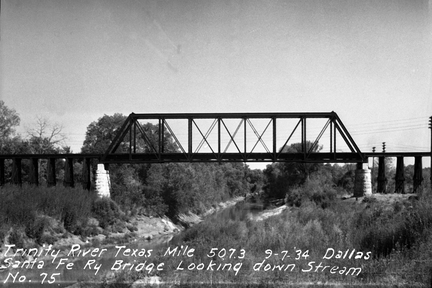 How the trestle bridge looked 86 years ago as it spanned the Trinity River south of downtown Dallas