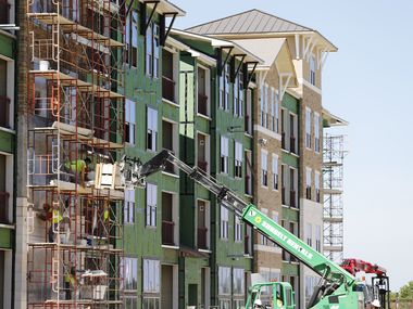 An apartment complex is pictured being built in North Texas. A recent study has found Mesquite rent remains the lowest in the Dallas-Fort Worth area.