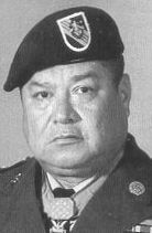 Army Master Sergeant Roy P. Benavidez, then Staff Sergeant,  distinguished himself by a series of daring actions in 1968 while assigned to Detachment B-56, 5th Special Forces Group (Airborne). 1st Special Forces, Republic of Vietnam. (U.S. Army Photo)