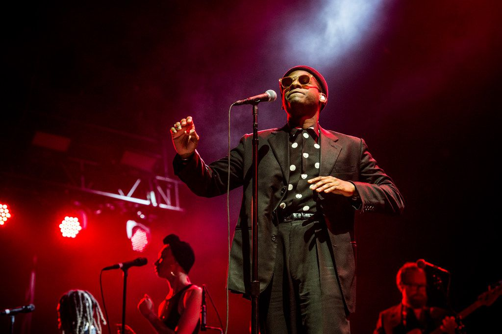 Leon Bridges performs at the Okeechobee Music and Arts Festival on Sunday, March 4, 2018, in Okeechobee, Fla. (Photo by Amy Harris/Invision/AP) ORG XMIT: INVW