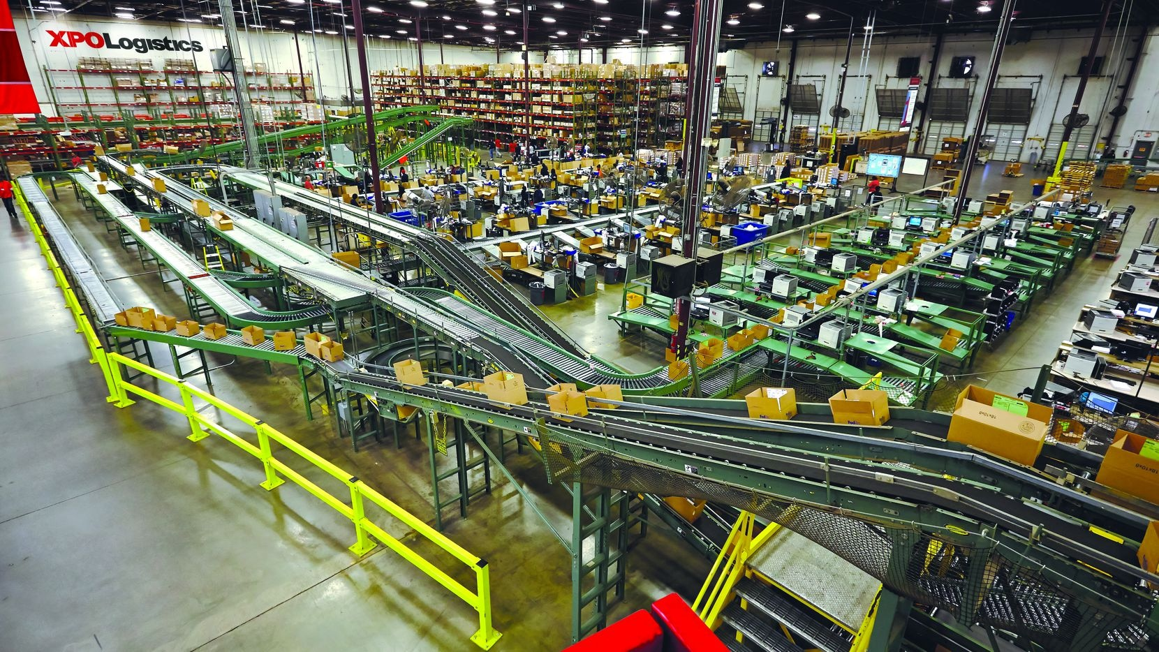 One of XPO Logistics' supply chain warehouses.
