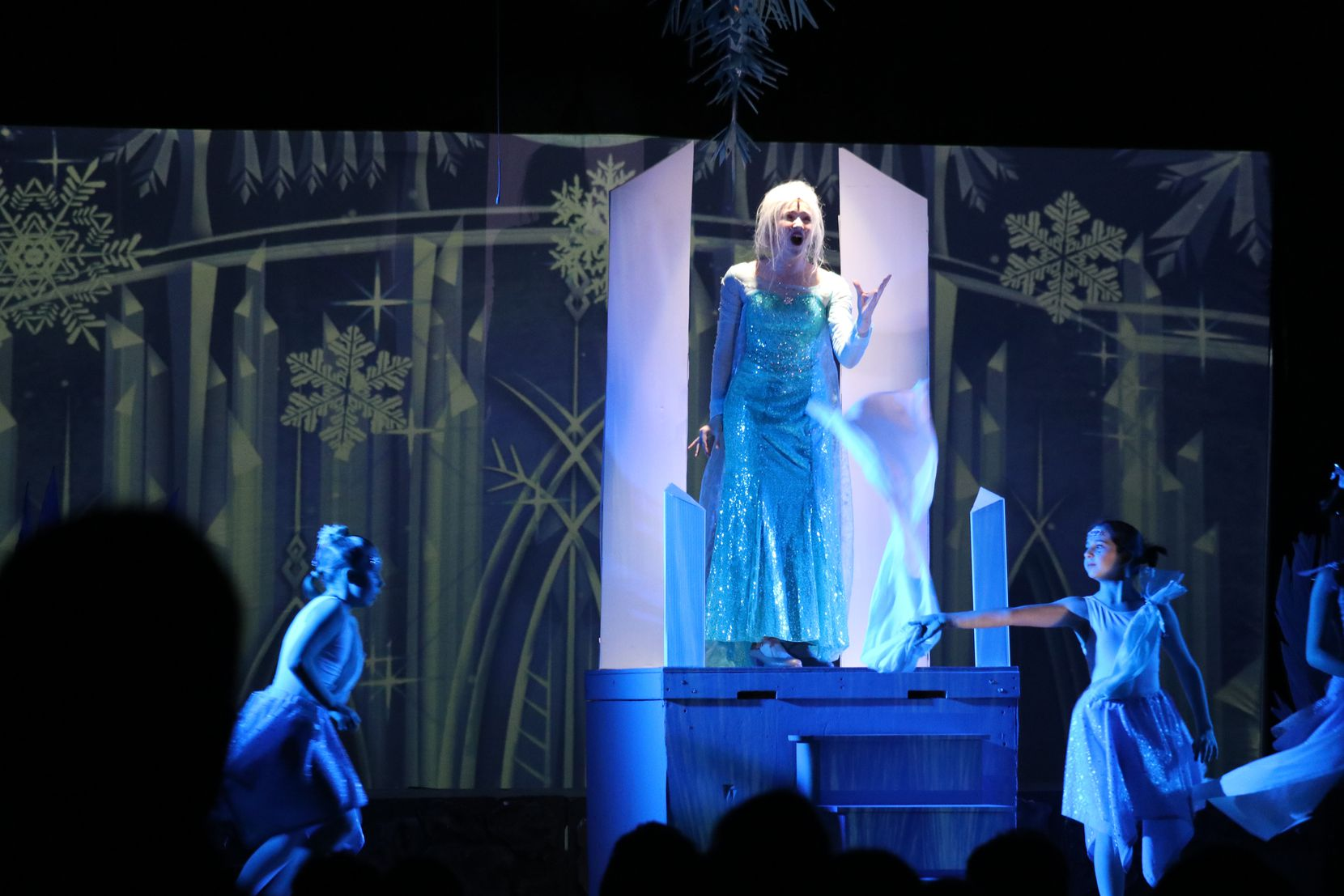 "Tilda McSpadden (Elsa) in ""Disney's Frozen Jr."" at McKinney Youth Onstage in early March 2020."