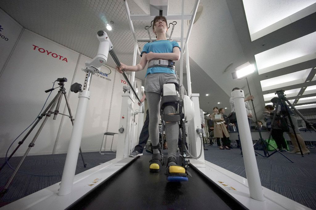 Toyota partnered with Fujita Health University to develop the device. (Eugene Hoshiko/The Associated Press)