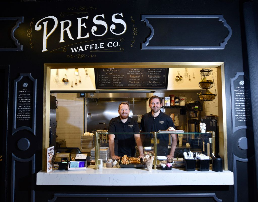 Press Waffle Co. has stalls at Legacy Hall in Plano, Foodhall at Crockett Row in Fort Worth, and Baybrook Mall in Friendswood, Texas. Other shops are expected to open in Oklahoma City and Waco.