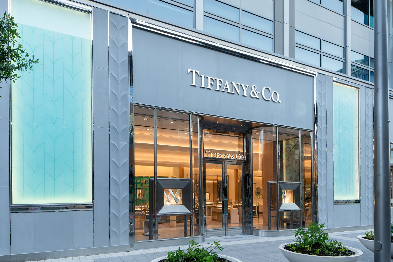 Exterior of the new Tiffany & Co. store in Plano's Legacy West.