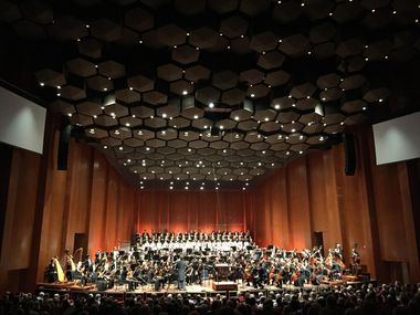 The Houston Symphony, shown gearing up for its recent presentation of Mahler's Third Symphony, has had a line of impressive conductors.