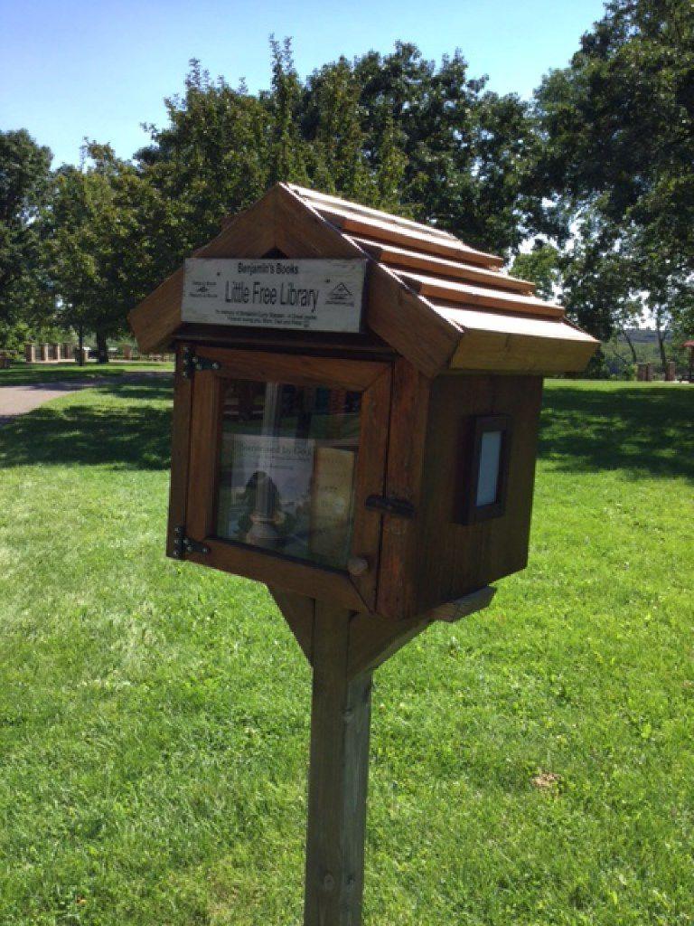 Benjamin's Books is in Freedom Park located in Prescott, Wis.