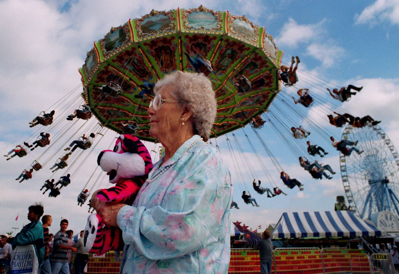 Clorine Pritchett, 86, visits the State Fair of Texas for her 84th time in a row in 1996.