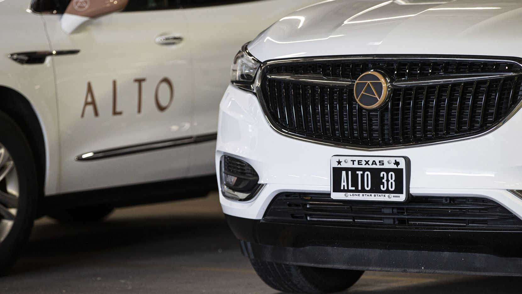 Ride-hailing service Alto maintains a fleet of SUVs at the company's operations center in Northwest Dallas. Unlike Uber and Lyft, it owns its vehicles and its drivers are employees. (Brandon Wade/Special Contributor)