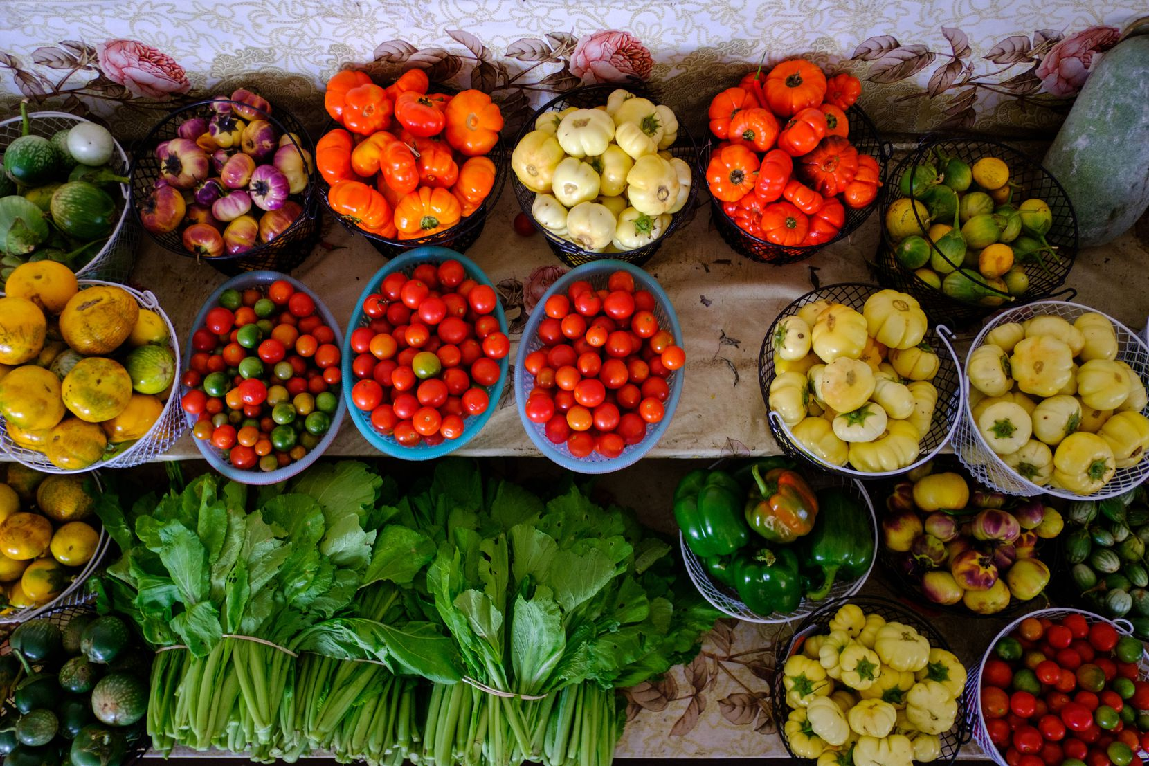 Hundreds of vendors pack the Hmongtown Marketplace, where fresh farmed vegetables are among the various items readily available.