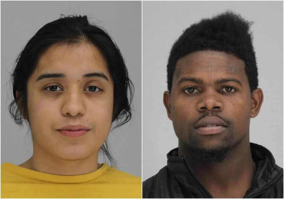 Carina Anaya Villa, 22, (left) and Brent Burr, 23, each face a capital murder charge in connection to the fatal shooting of Sylvester Veal.